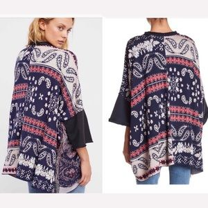 Free people pieced with paisley tunic top M/L